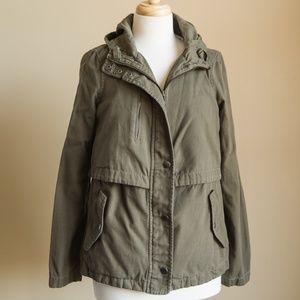 Hinge Seattle Nordstrom Olive Green Utility Jacket
